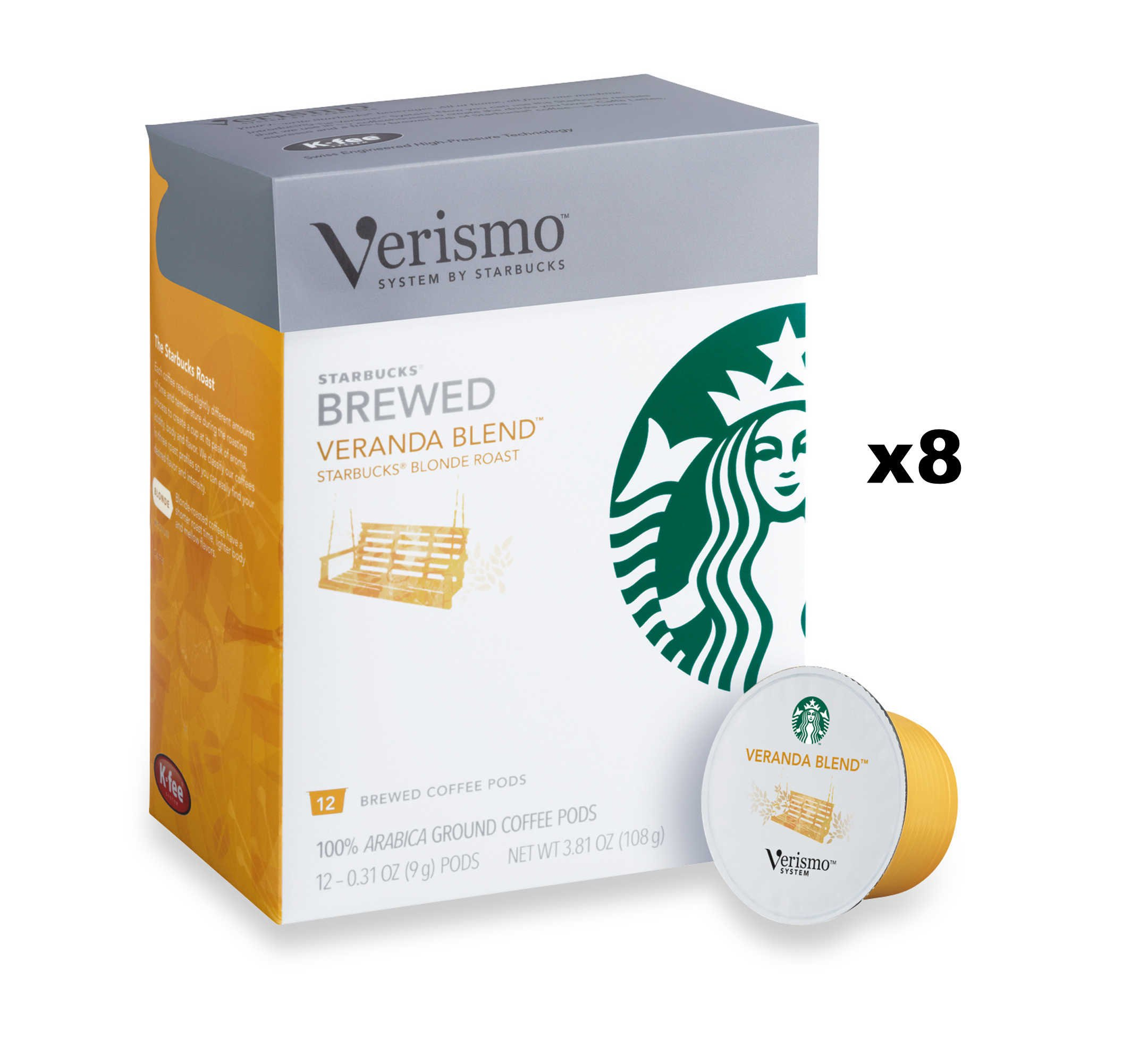 Starbucks Veranda Blend Brewed Coffee Verismo Pods (96 Pods)
