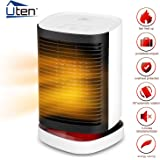 Uten Heater Fan PTC Heat Technology Auto Oscillate, Portable Electric Heater Tip-Over and Overheat Protection with Warm and Natural Wind 3 modes for Office Home Bedroom Baby Dorm Desktop
