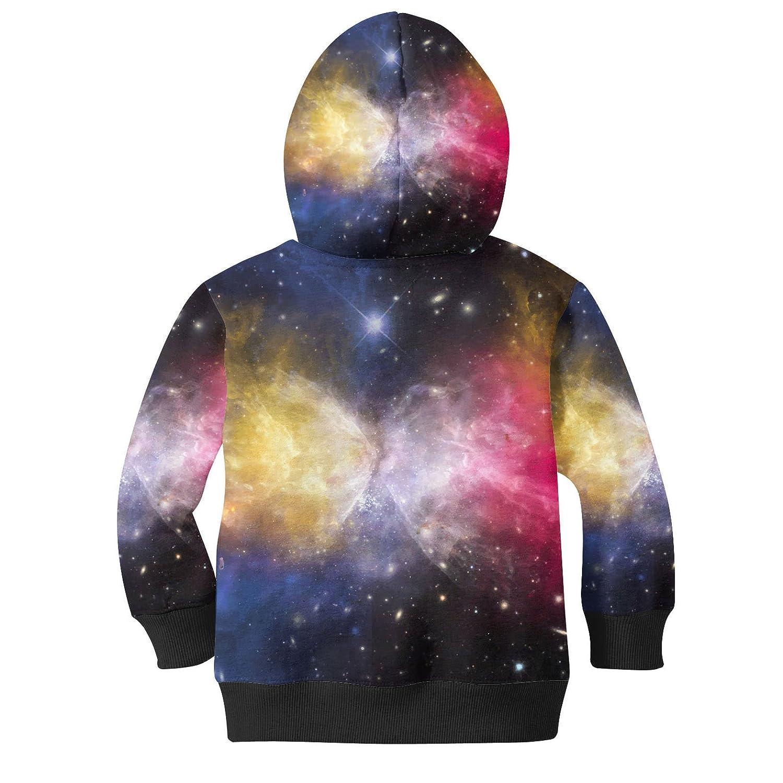 Galaxies Meeting Kids Zip Up Hoodie Unisex