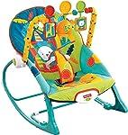 Fisher-Price, Silla Mecedora para Bebé, Safari en Colores Oscuros
