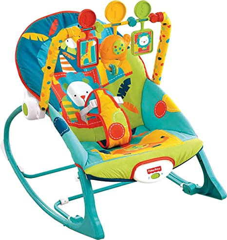21f1174c9 Fisher-Price, Silla Mecedora para Bebé, Safari en Colores Oscuros:  Amazon.com.mx: Bebé