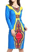 Eloise Isabel Fashion Impressão Tradicional Vestidos Roupas Para Mulheres Sexy Bodycon Manga Longa Feminina Plus Size