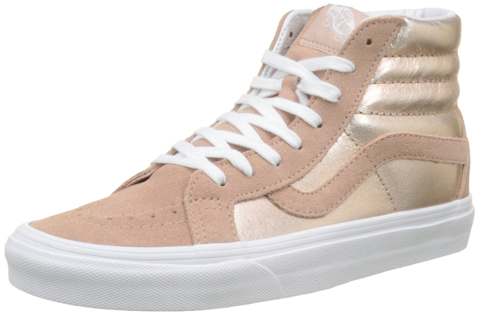 d365bc4fc1 Galleon - Vans Unisex 2-Tone Metallic SK8-Hi Reissue Mahogany Rose True  White Sneaker - 8