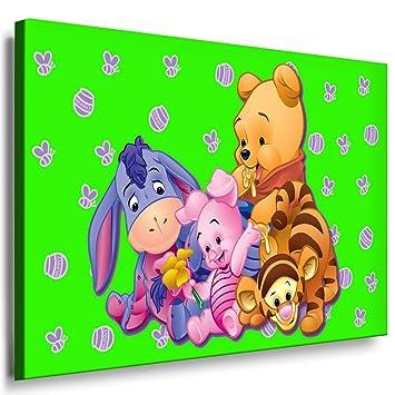 Winnie the Pooh Kinderzimmer Leinwandbild - 100x70cm k. Poster ...