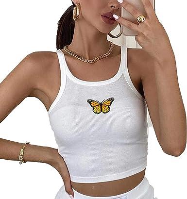 Blouses Camiseta de leopardo para mujer Y2K con volantes ...