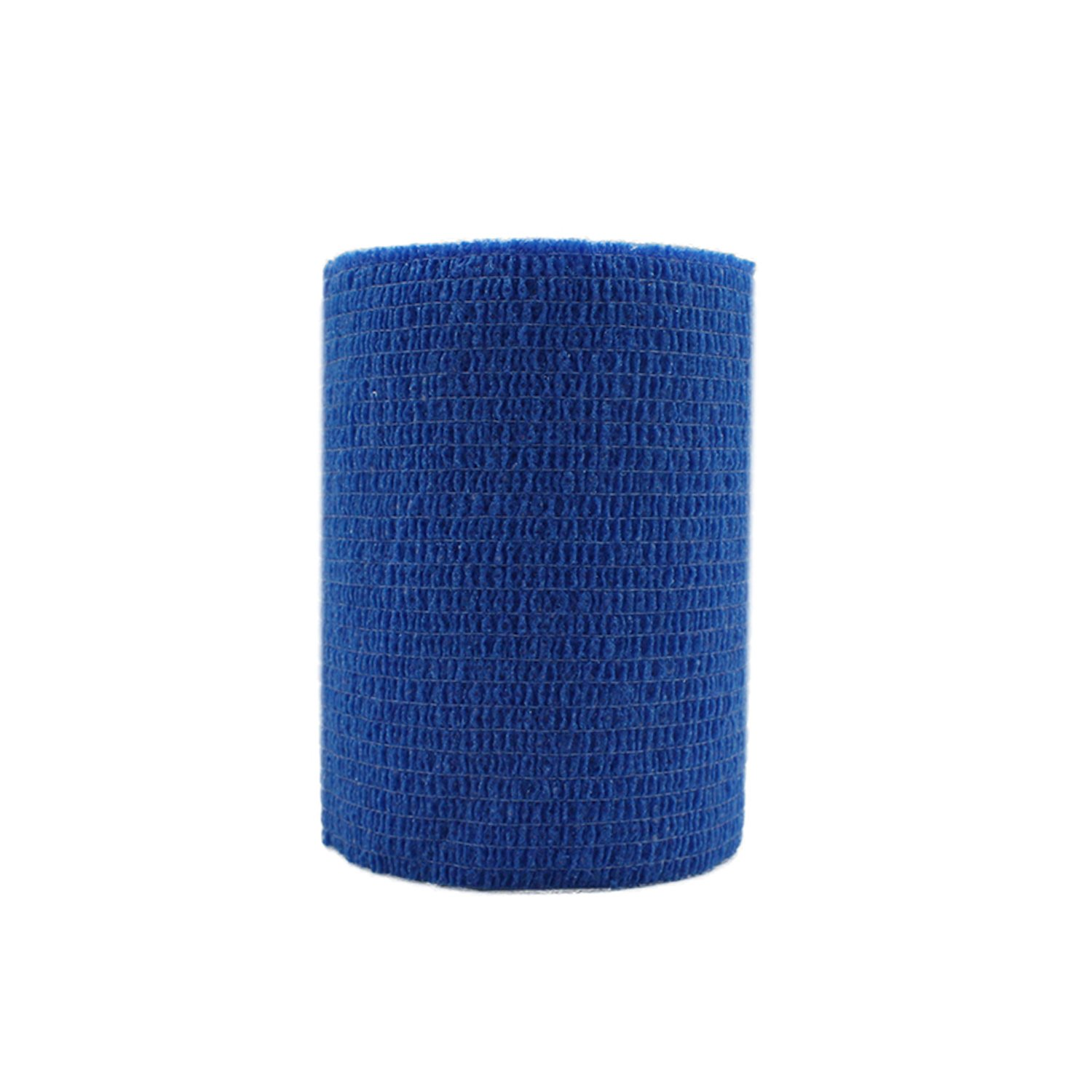 COMOmed Self Adherent Cohesive Bandage Latex FDA Approved 3''x5 Yards First Aid Ace Bandages Stretch Sport Athletic Wrap Vet Tape for Wrist Ankle Sprain and Swelling,Blue(6 Rolls)