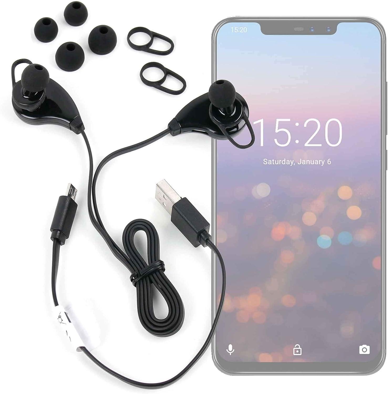 DURAGADGET Auriculares inalámbricos en Color Negro para Smartphone UMIDIGI Z2, Cubot Power: Amazon.es: Electrónica