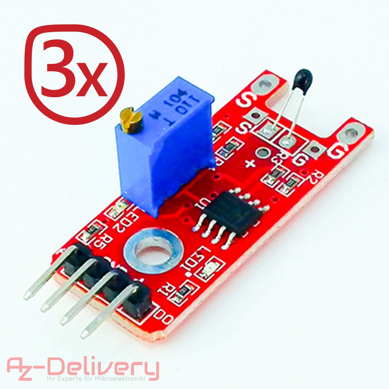 AZDelivery ⭐⭐⭐⭐⭐ 3 x KY-032 IR Hindernis Sensor Modul f/ür Arduino