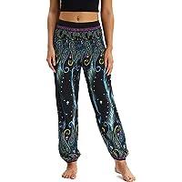 Nuofengkudu Mujer Pantalones Harem Tailandes Hippies Vintage Boho