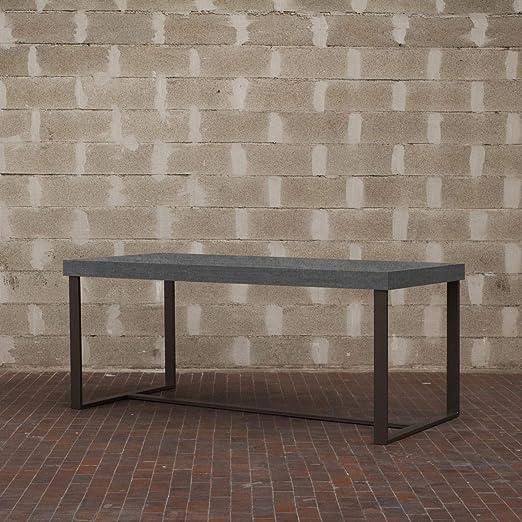 Itamoby, Mesa 180 Amable, Paneles de ennoblecido & Acero, Cemento ...