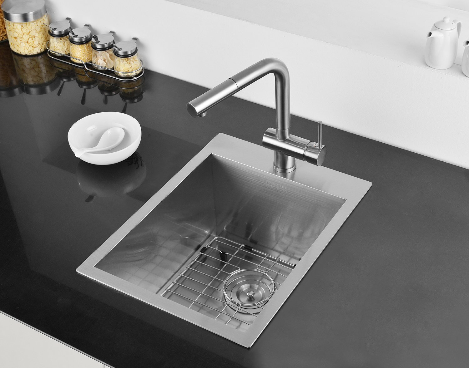 Ruvati 15 x 20 inch Drop-in Topmount Bar Prep Sink 16 Gauge Stainless Steel Single Bowl - RVH8110 by Ruvati (Image #4)