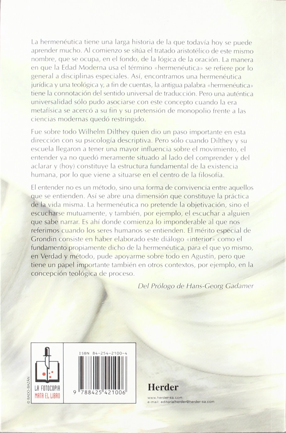 Introduccion a la hermeneutica filosofica (Spanish Edition): Jean Grondin: 9788425421006: Amazon.com: Books