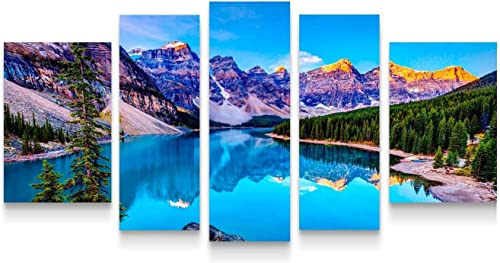 Startonight Canvas Wall Art Mountain Lake