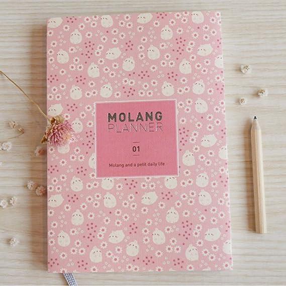 Molang Diary Ver. 4 Kawaii Cute Conejo Undated planificador ...