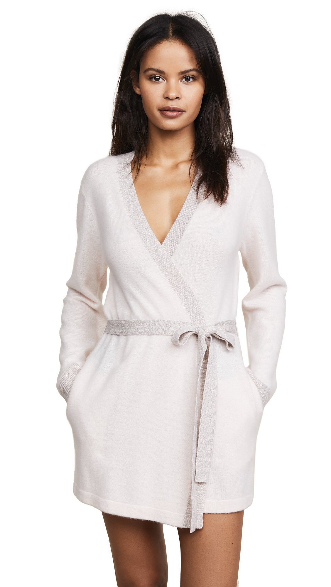 Morgan Lane Women's Bella Cashmere Robe, Vanilla, M/L