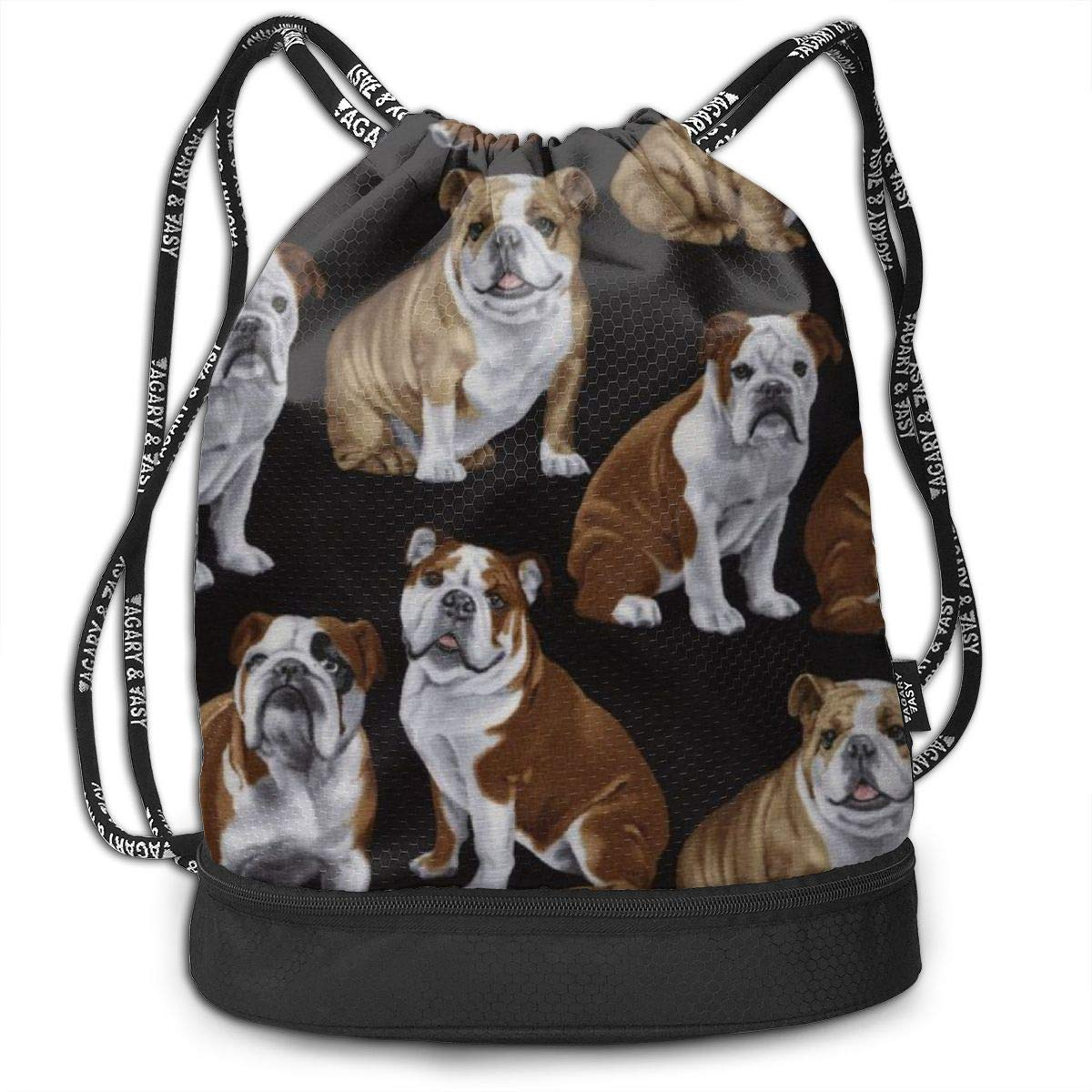 English Bulldogs Multifunctional Bundle Backpack Shoulder Bag For Men And Women