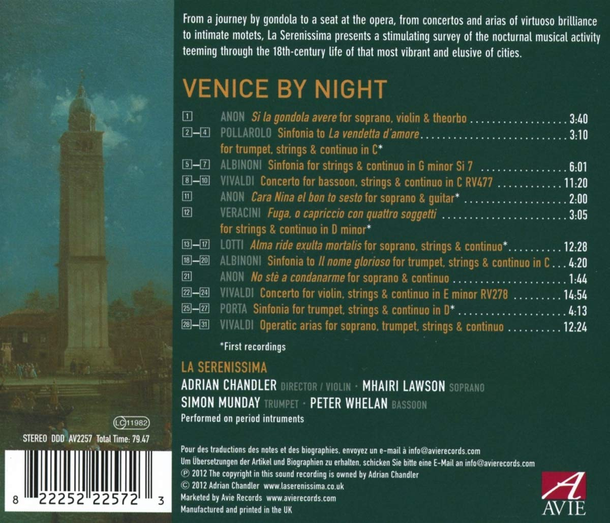 Venice By Night : Anonymous, Adrian Chandler : Amazon.es: Música