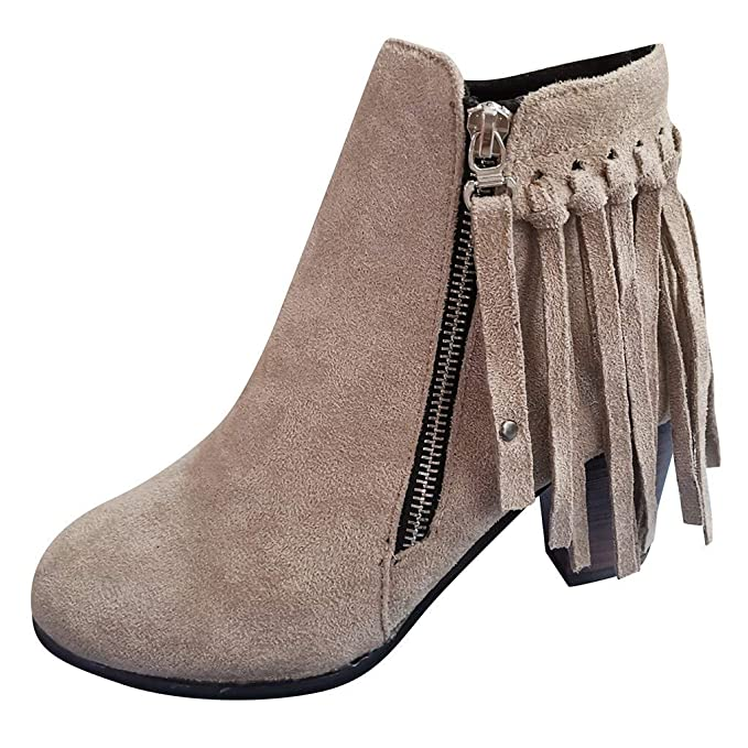 affordable price uk cheap sale good selling Amazon.com: Londony Fringe Ankle Boot Western Cowboy Bootie ...