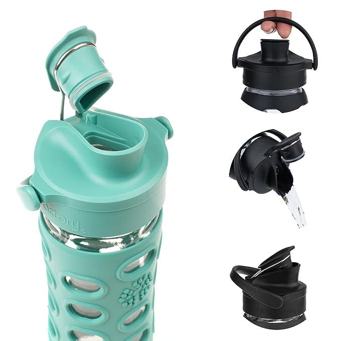 Lifefactory - Botella de Cristal con Active con Tapa Cap, Verde, 350 ML: Amazon.es: Hogar