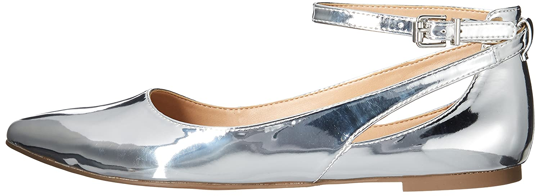 Franco Sarto Women's Sylvia Ballet Flat B071941TQ5 5 B(M) US|Silver