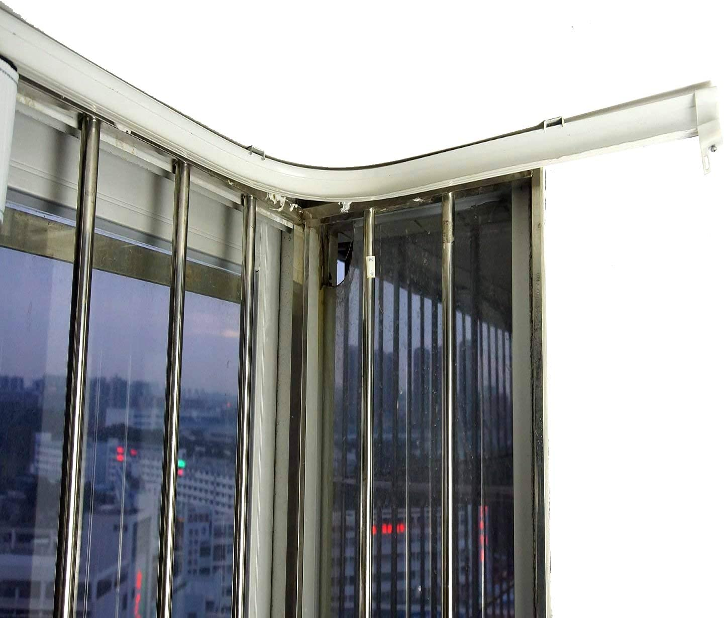VRSS Flexible Bendable Straight Curved Curtain Track for L Assorted Sizes