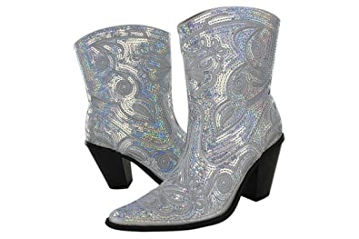 Helen's Heart Women's Sparkle Sequin Bling Short Western Cowgirl Boots Assorted Colors