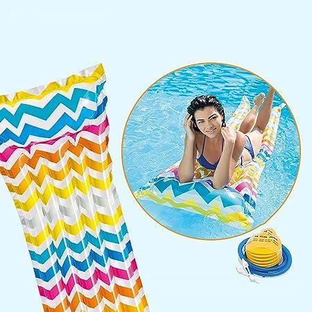 Hamaca inflable del agua, flotador portátil de la piscina ...