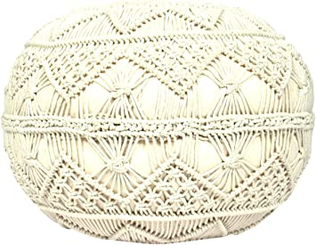 Natural Large Madhus COLLECTION Unique 3 legs Pouf Decorative