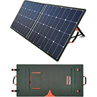 AIMTOM SolarPal 100W Portable Solar Panel for Power Station, Solar Generator, Phone and Laptop, Foldable Solar Power Charger for Camping, RV, Home with QC USB, 18V DC Port and MC-4 Output