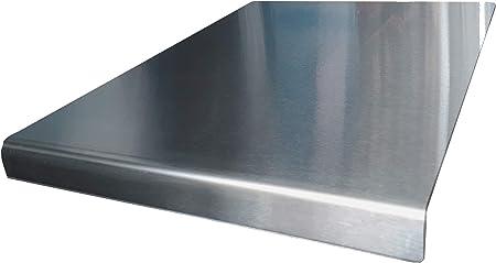 Arbeitsplatten-Schutz / Abdeckung aus Edelstahl, runde Kanten, 500 x 500 mm  (B x T) Inklusive rutschfeste Standfüße