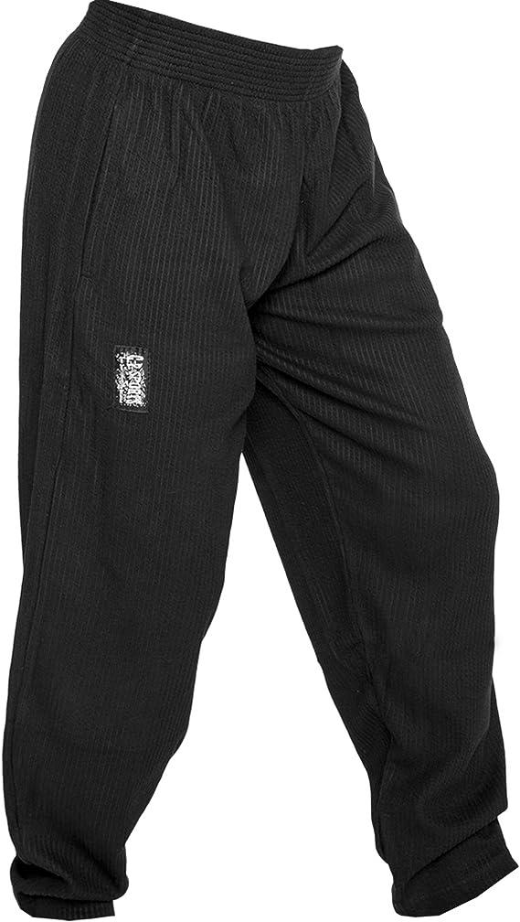jogging L = 7 nero fitness C.P.Sports S10 Pantaloni da uomo da allenamento bodybuilding