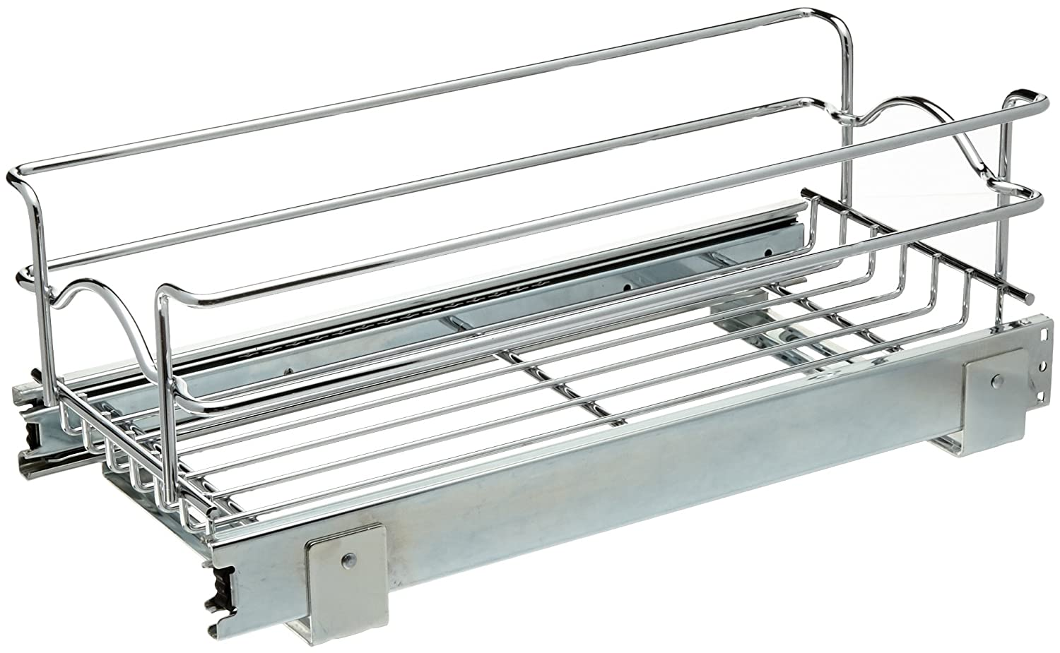 Rev-A-Shelf 5WB1-1218-CR 12 W X 18 D Base Cabinet Pull-Out Chrome Wire Basket