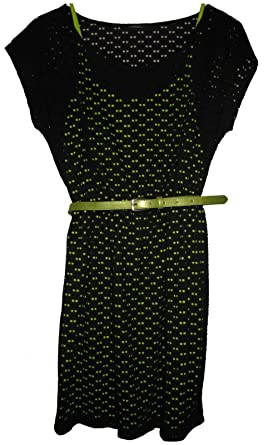 SOPRANO-NORDSTROM-DRESS-BLACK-w-CITRUS-SILHOUETTESE-SIZE-