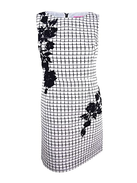 Betsey Johnson Womens Woven Sheath Dress With Lace Trim At