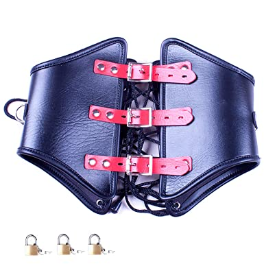 Bondage restraints with integrated lock are