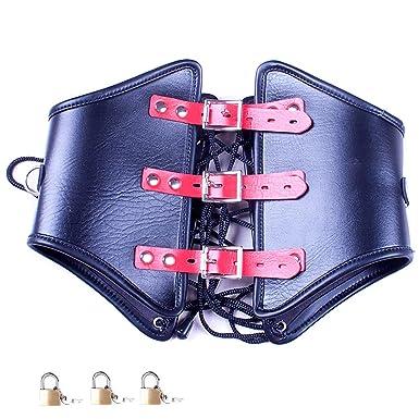 Bondage restraints with integrated lock