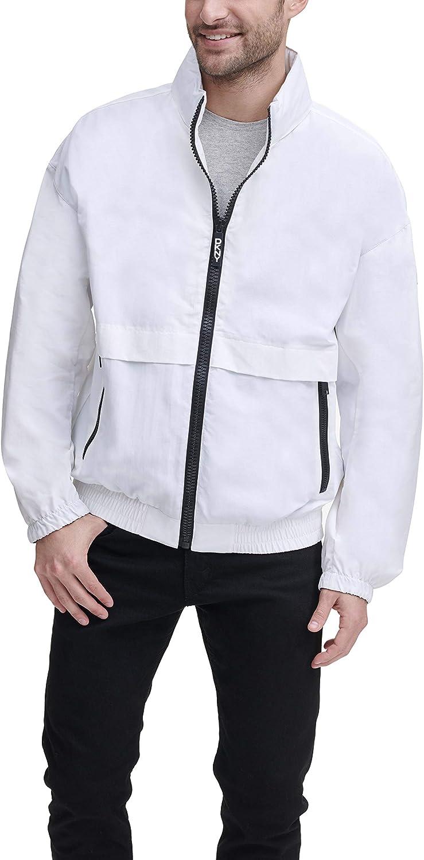 DKNY mens Water Resistant Taslan Windbreaker Jacket at  Men's Clothing store