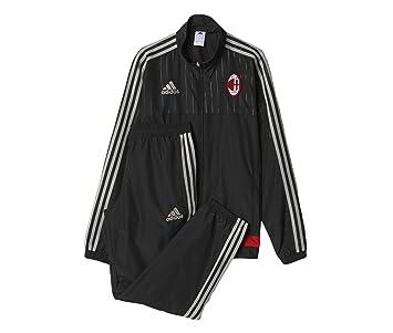 adidas ACM PRES Suit Y - Sudadera para niño, Color Negro/Gris/Rojo, Talla 140: Amazon.es: Zapatos y complementos