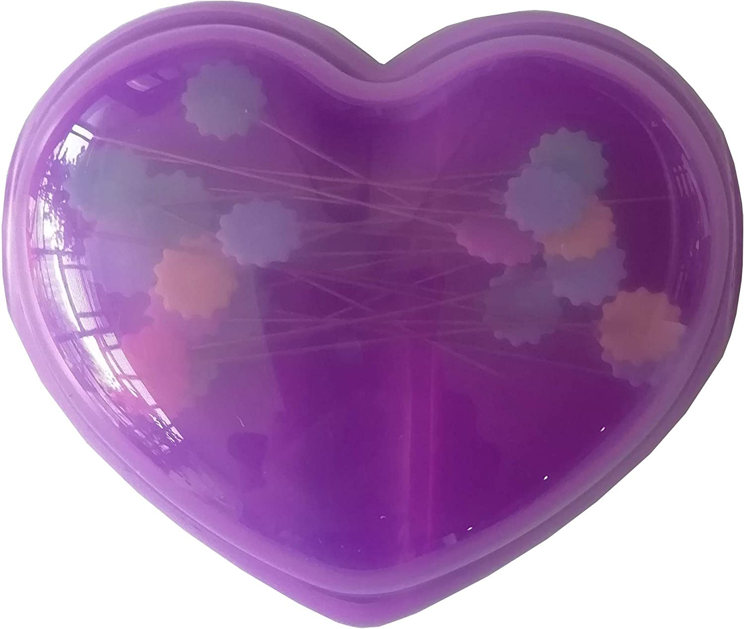 Purple YICBOR 1pcs Sewing Tools Heart Magnetic Pin Holder with pins for Storage Sewing