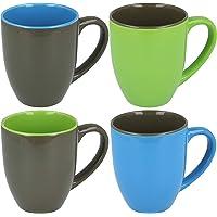 COM-FOUR® Taza de cerámica, taza de café, cafetera, en diferentes diseños