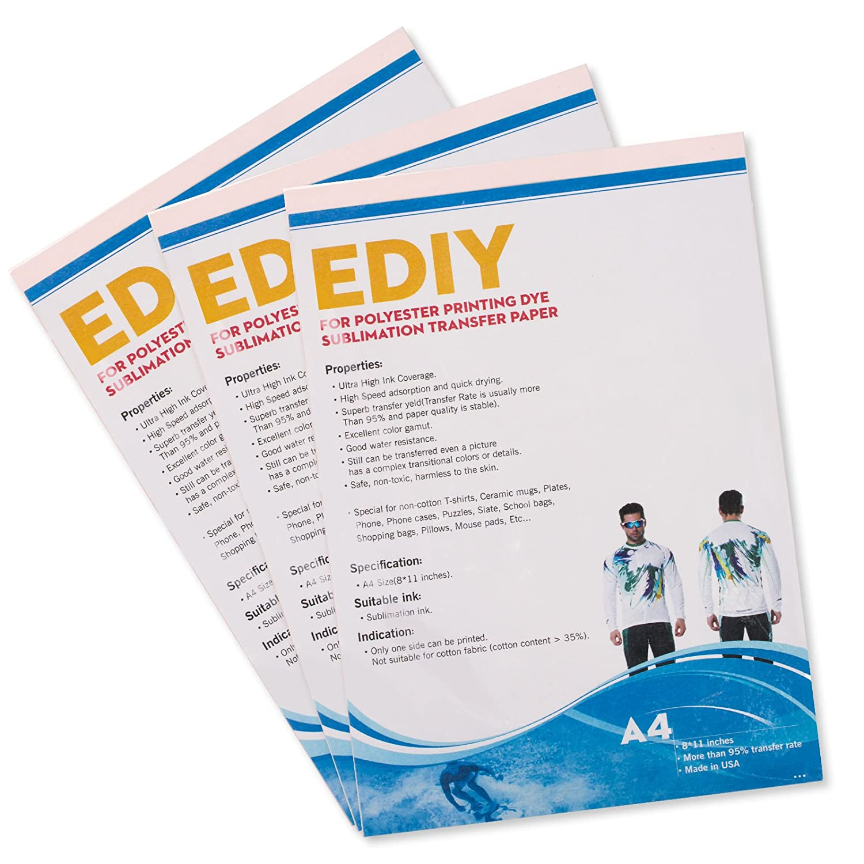 Color printing paper - Amazon Com Ediy Sublimation Paper 8 5 X 11 100 Sheets Heat Transfer Inkjet Printer Paper
