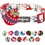 Blueberry Pet Christmas Holiday Gift Dog Collars or Bowtie - Regular Collars or Personalized Collars with Metallic Thread