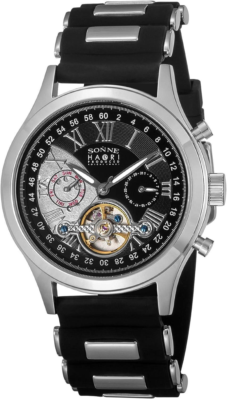 [ゾンネ] 腕時計 HAORI ブラック文字盤 自動巻 H016SS-BK ブラック