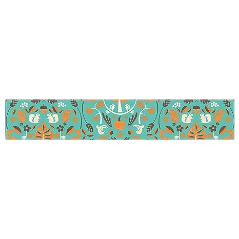 KESS InHouse Monika Strigel Pineapple People Black Black Multicolor Table Runner 16 x 180