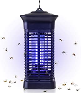 Mosquito Bug Zapper Fly Killer Bug Attractant with 1,500 Sq. Feet Coverage - Safe Silent & Effortless Electronic Operation - Outdoor and Indoor Hangable - For Patio BBQ Camping Home Kitchen and Office