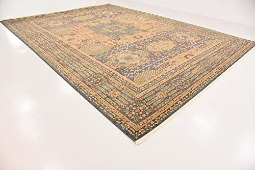 Unique Loom Palace Collection Traditoinal Geometric Classic Blue Area Rug 13' 0 x 18' 0