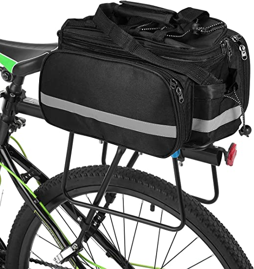 Cycling Bicycle Bike Storage Pannier Saddle Rack Rear Seat Bag Shoulder Carrier
