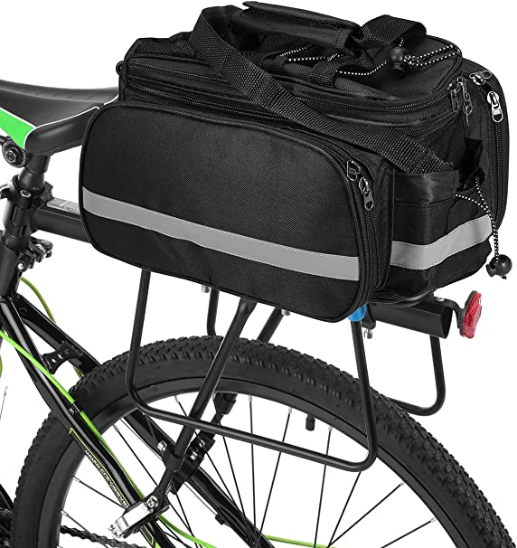 Waterproof Outdoor Bike Bicycle Cycling Pannier Strap-On Bag Rear Rack Seat Bags