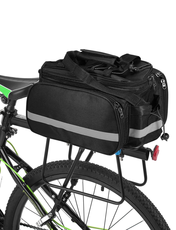 a6484ce00d6 Lixada Bolsa Trasera para Bicicleta Multifuncional Bolsa de Asiento Trasero  Bolsa de Hombro para Ciclismo al