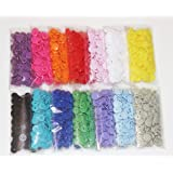 420 Sets 14-Color Lead-Tested KAM snaps Size 20 T5 KAM Snap Plastic Fasteners Punch Poppers Closures No-Sew Buttons for Cloth Diaper/Bibs/Unpaper Towels/Nappies/Buttons/Mama Pads